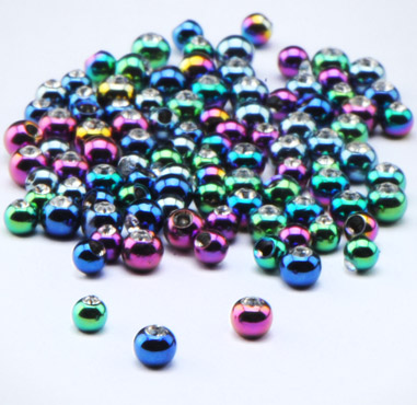 Anodised Jeweled Balls for 1.2mm Pins