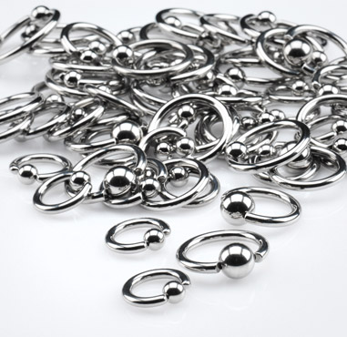 Ball Closure Rings Gauge 2.5mm