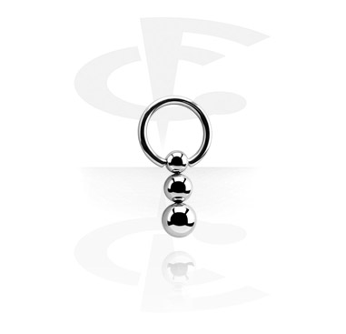 Ball Closure Ring with Clip-In Triple Ball