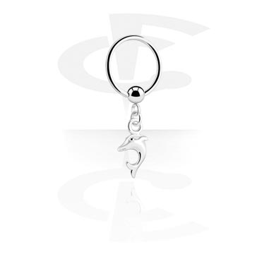 Ball Closure Ring com Charm