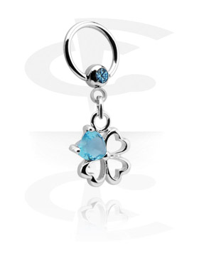 Jeweled Ball Closure Ring con Charm