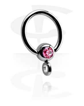 Jeweled Ball Closure Ring con Hoop