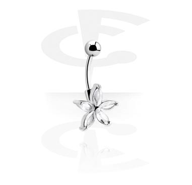 Curved Barbell with Cubic Zirconia
