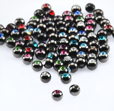 Jeweled Black Micro Balls for 1.2mm Pins