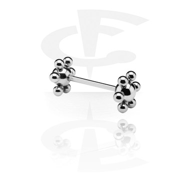 Barbell with Flower Balls