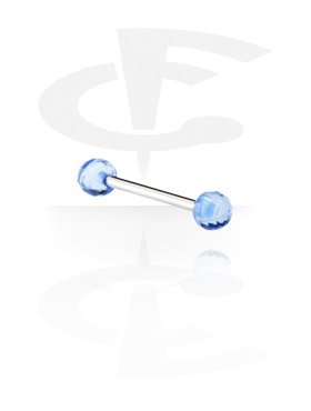 "Barbell mit ""Faceted"" Kugeln"