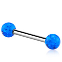 Barbells, Barbell with coloured balls, Surgical Steel 316L ,  Acrylic