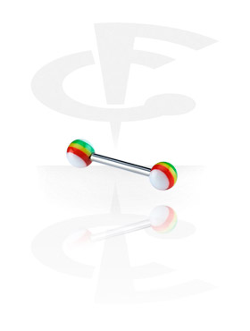 Barbell with New Rasta Balls
