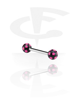 Steel Barbell with Threaded Star Balls