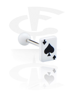 Steel Barbell con Spades Playing Card