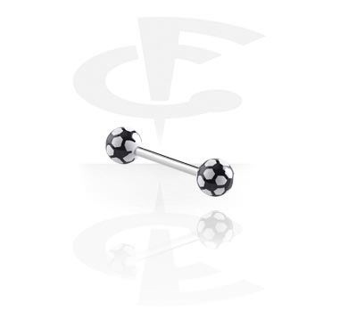 Steel Barbell with Soccer Balls