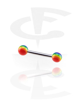 Barbell with Threaded Rainbow Balls