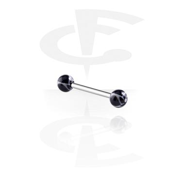 Barbell con New Twister Flower Balls