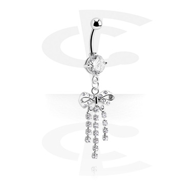 Round Jeweled Banana con Charm