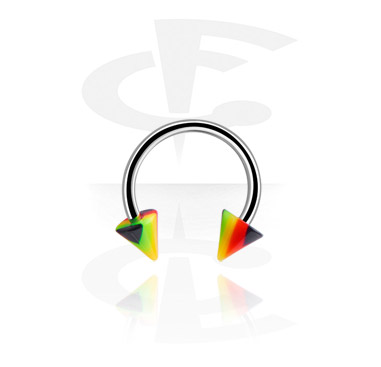 Circular barbell with Rasta cones