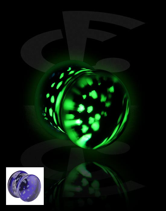 "Tunnels & Plugs, ""Glow in the Dark"" Plug, Glass"