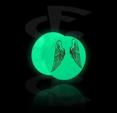 Glow in the Dark Plug with Wing Motive