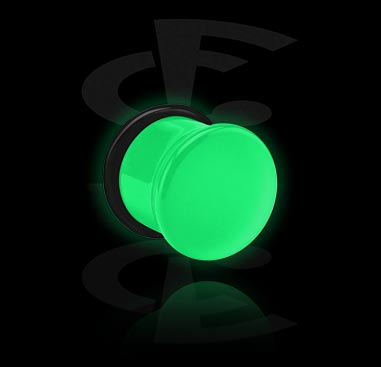 Glow in the Dark Single Flared Plug