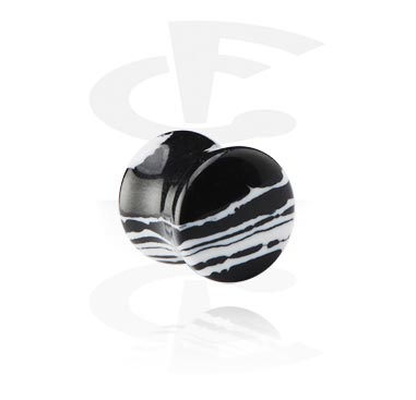 Zebra Double Flared Plug