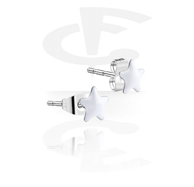 Enamel Steel Ear Studs