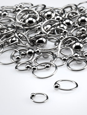Ball Closure Rings (1.0, 1.2 and 1.6mm Gauge)