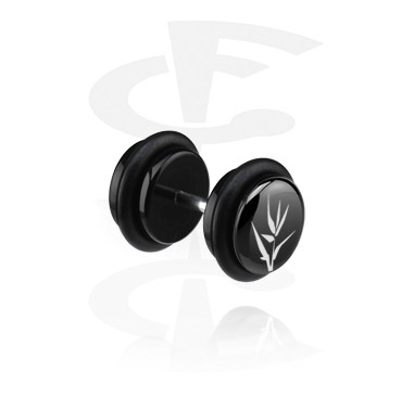 Black Fake Plug (Left Ear)