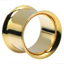 Tunely & plugy, Double Flared Tunnel, Gold Plated Surgical Steel 316L