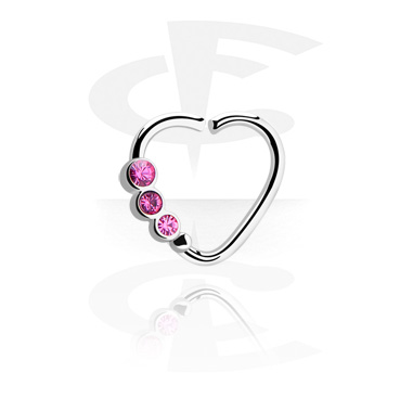 Heart-shaped Continous Ring