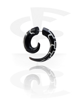 Inlaid Spiral Fake Piercing (Centipede)