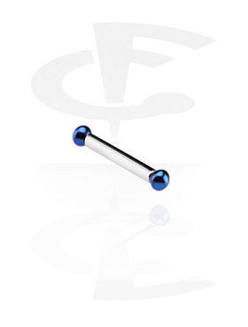 Internally Threaded Barbell with Anodized Balls