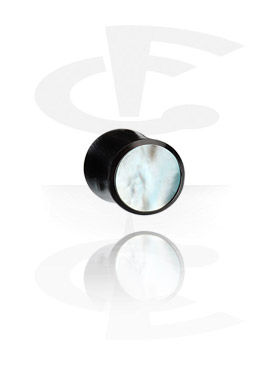 "Inlaid Tribal Plug (""Mother of Pearl"")"