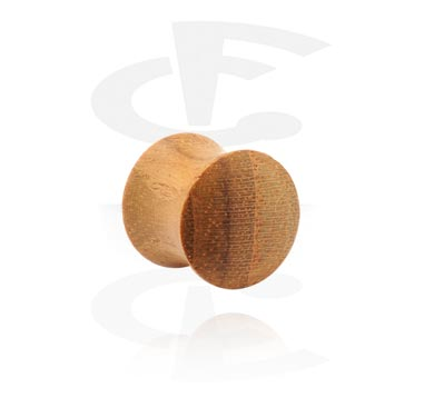 Double flared plug di legno