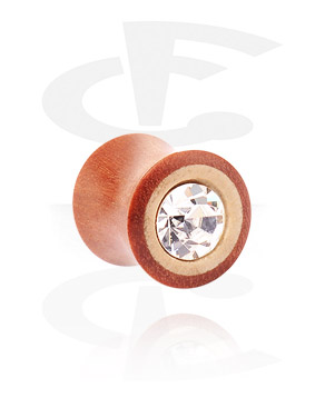 Double flared plug avec strass
