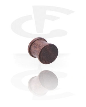 Ribbed Wood Plug (Tamarind)