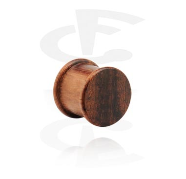 Ribbed Wood Plug (Black Rosewood)
