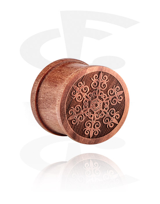 Tunneler & plugger, Ribbed Plug med Laser Engraving, cherry wood
