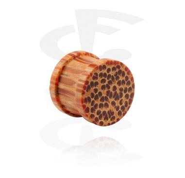 Ribbed Wood Plug (Coco)