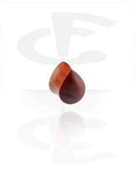 Tear Drop Flared Plug(Rosewood)