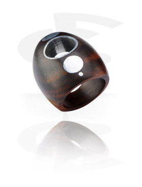 Ring with Steel Inlay