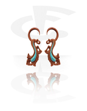 Claw Earring with Turquoise Inlay