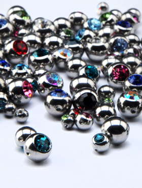 Jeweled Balls for Ball Closure Rings