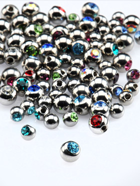 Jeweled Side-Threaded Balls for 1.2mm Pins