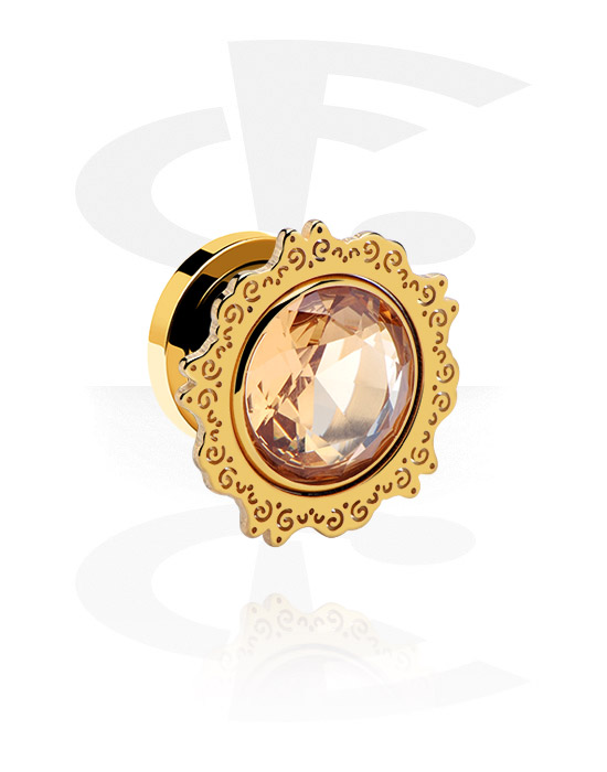 Tunnels & Plugs, Flesh Tunnel, Gold Plated Surgical Steel 316L