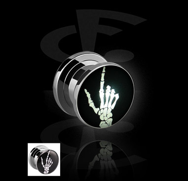 LED Plug with Skeleton Hand Motive