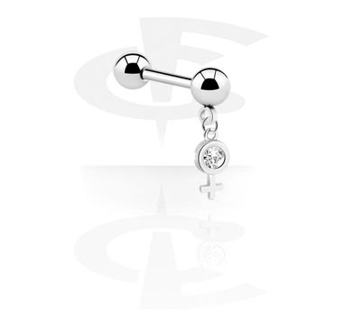 Micro Barbell with Charm