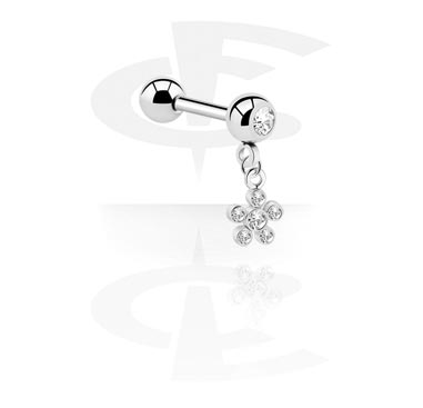 Jeweled Micro Barbell con Charm