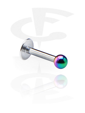 Labret with Anodized Threaded Ball