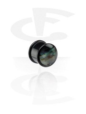 Black Mother of Pearl Plug