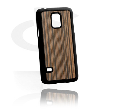 Phone case with wood inlay