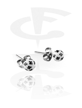 Clubs Playing Card Studs